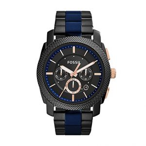 Fossil Men's FS5164 Machine Two-Tone Stainless Steel